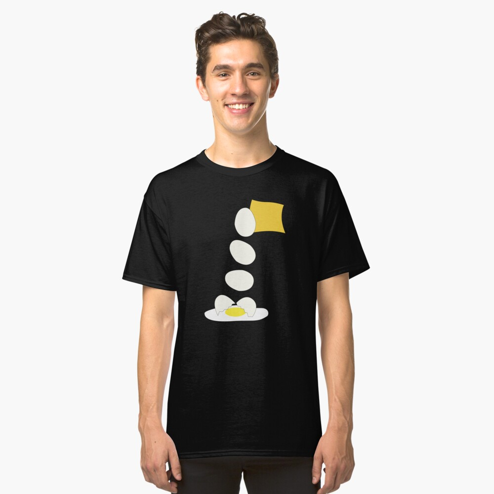 Food Fight - Cheese vs Egg. Classic T-Shirt Front