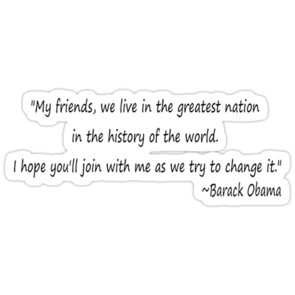 Obama Quote by Sara Wood
