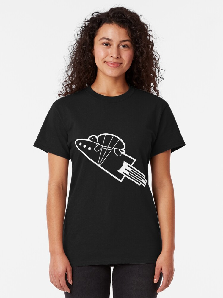 Alternate view of turtle riding rocket Classic T-Shirt