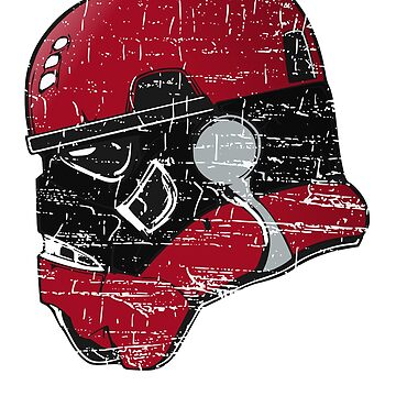 ATLANTA TROOPER HELMET POPULAR DISTRESSED FOOTBALL  T-SHIRT by NotYourDesign