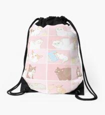 Meme cats Drawstring Bag