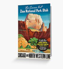 Vintage Travel Poster: Zion National Park Greeting Card