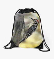 Ladder-backed Woodpecker Drawstring Bag
