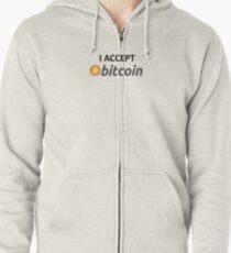 I accept Bitcoin Zipped Hoodie