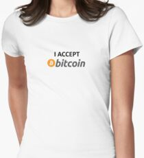 I accept Bitcoin Women's Fitted T-Shirt