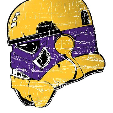 MINNESOTA TROOPER HELMET POPULAR DISTRESSED FOOTBALL T-SHIRT by NotYourDesign