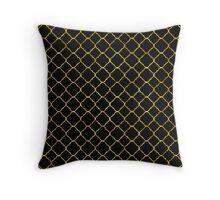 Chic Gold Quatrefoil Throw Pillow