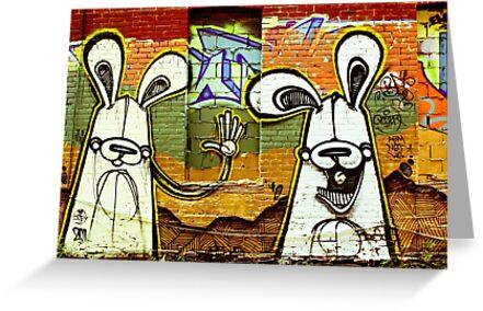 Graffiti Bunnies by Jason Dymock Photography