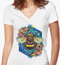 Bumblebee  Women's Fitted V-Neck T-Shirt