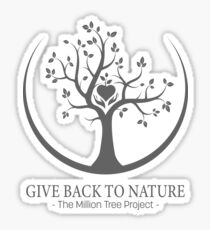 Give Back to Nature -  Grey Logo Sticker