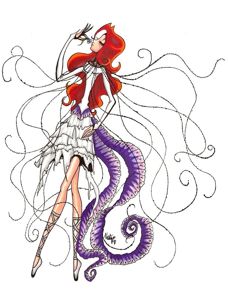 Lilac Euphoria & Black Beads by Vestque