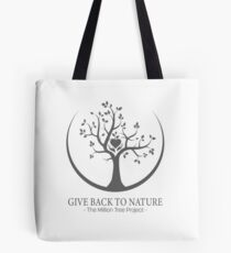 Give Back to Nature -  Grey Logo Tote Bag