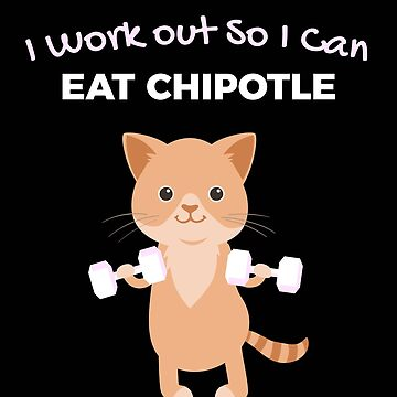 Funny Chipotle Lover Gym t shirt by robcubbon
