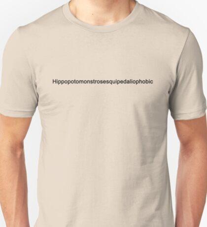 Hippopotomonstrosesquipedaliophobic (Black) T-Shirt