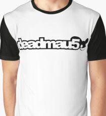 Deadmau5 white text Graphic T-Shirt