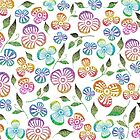 Bright & Shimmering Colorful Floral Pattern by WearSmart