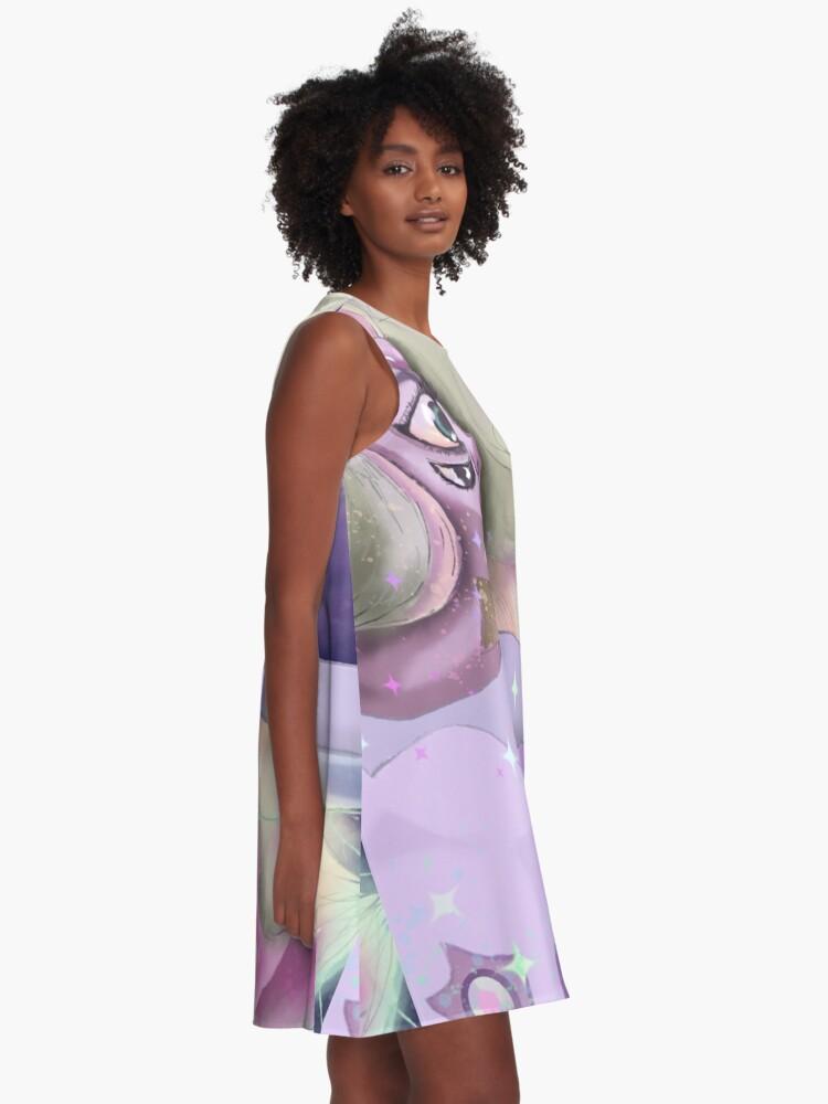 Alternate view of Rainbow Quartz in starlight A-Line Dress