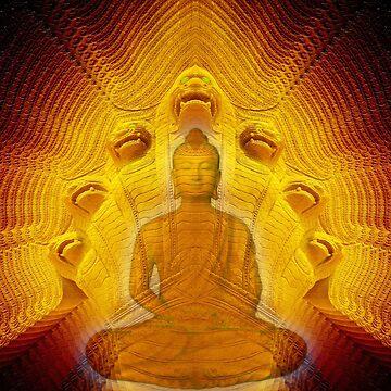 Buddha & Mucalinda by hugh023