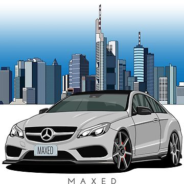 Merc E500 Coupe with Frankfurt Skyline Background by monstta