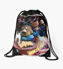 A Moose Ready With Santa's Cookies! Drawstring Bag