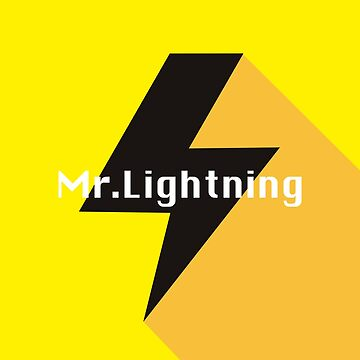 Mr Lightning Print by Moiza