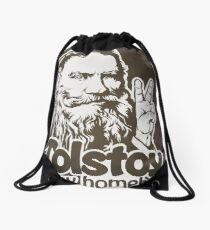 Tolstoy is My Homeboy Drawstring Bag