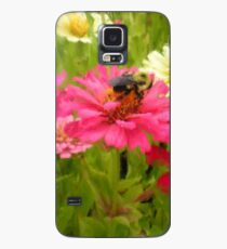 Painterly Bumblebee Sips Pink Zinnia Nectar Case/Skin for Samsung Galaxy