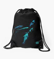 Watercolor Glow Koi Drawstring Bag