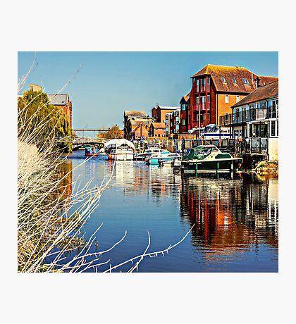 At the riverside. Photographic Print
