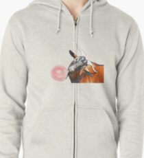 Billy Goat and Bubblegum Zipped Hoodie