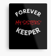 Delta Sigma Theta Gifts - Forever My Sisters' Keeper Metal Print