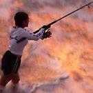 golden fishing by Bernhard Matejka