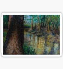 Trees and River Sticker