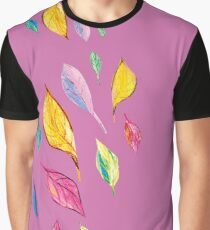 Colourfull leaves, floral design,  Graphic T-Shirt