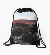 Last light on Urra Moor Drawstring Bag