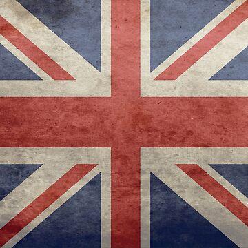UK Grunge Flag Distressed United Kingdom Vintage Dress by deanworld