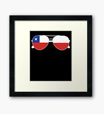 Chilean Flag Chile Sunglasses T-Shirt Chilean Flag Chile Tee Framed Print
