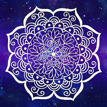 Galaxy Mandala by julieerindesign