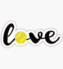 Pegatina Love Tennis T Shirt Los fanáticos de los deportes Los tenistas Gift Tee