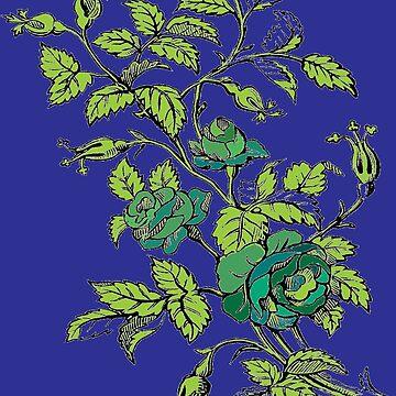 Ediemagic Teal Roses by Ediemagic