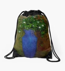 Winter Wildflowers Drawstring Bag