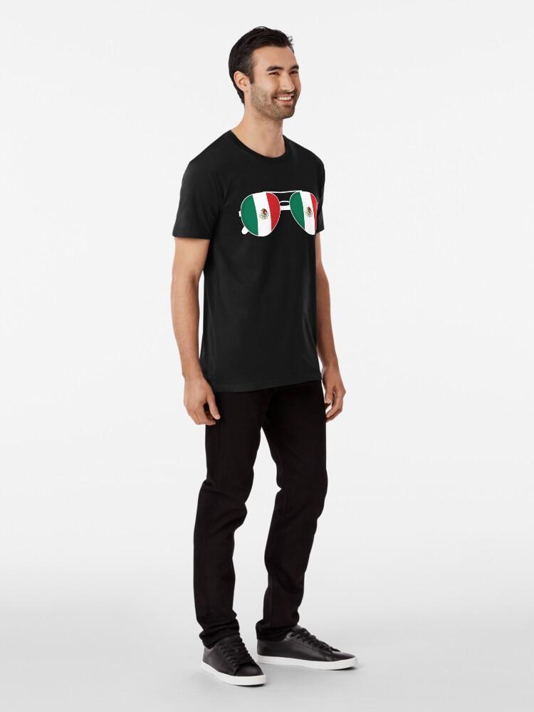 Alternative Ansicht von Mexikanische Flagge Mexiko Sonnenbrille Shirt Mexikanische Flagge Mexiko T-Shirt Premium T-Shirt