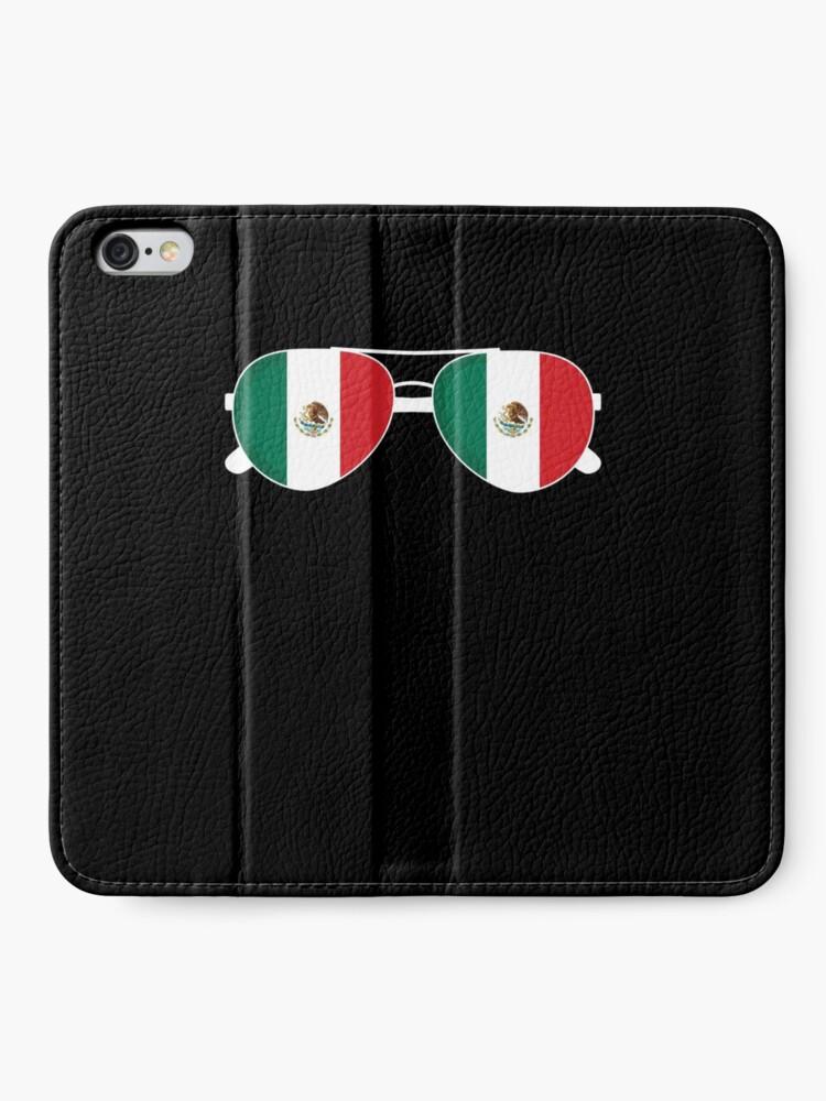 Alternative Ansicht von Mexikanische Flagge Mexiko Sonnenbrille Shirt Mexikanische Flagge Mexiko T-Shirt iPhone Flip-Case