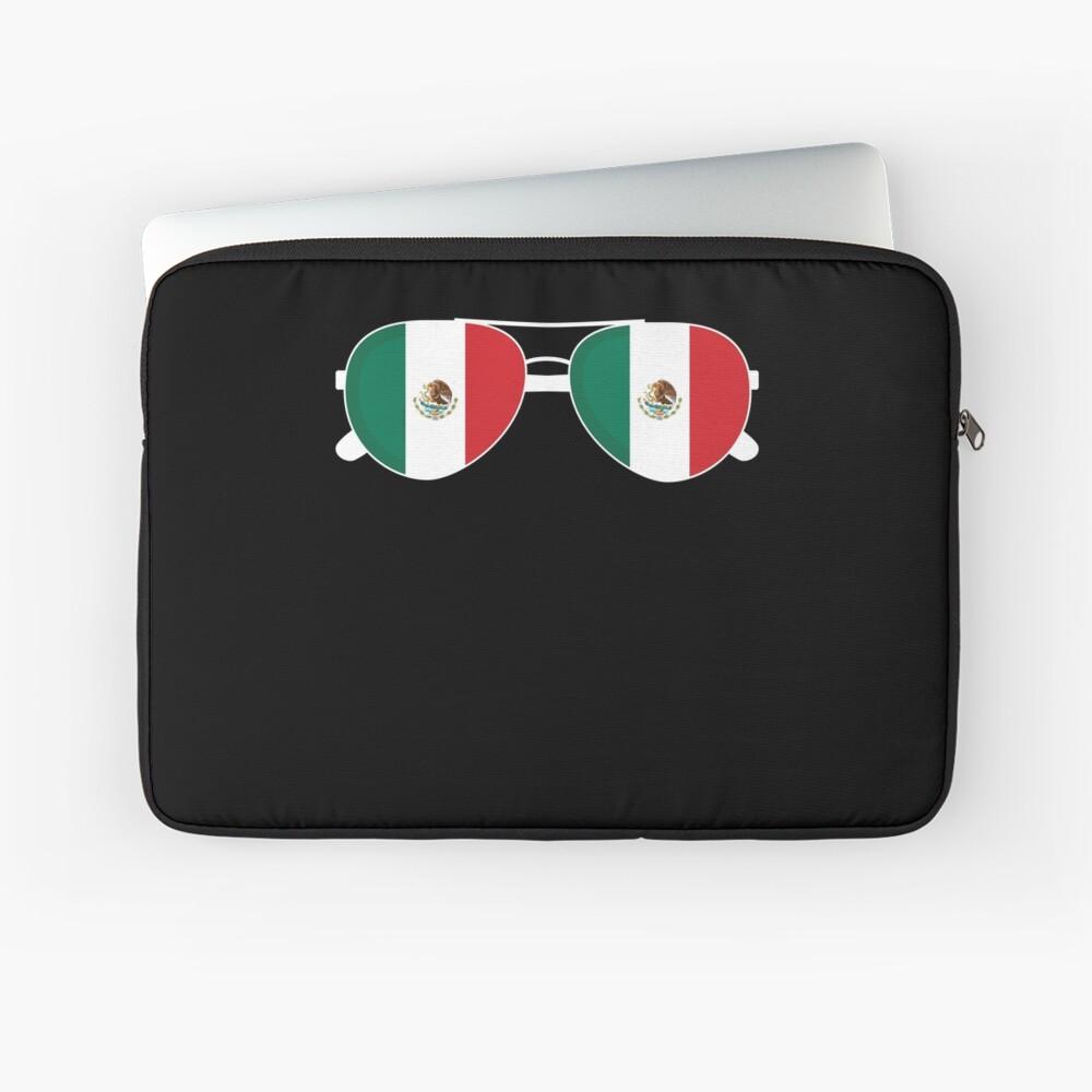 Mexikanische Flagge Mexiko Sonnenbrille Shirt Mexikanische Flagge Mexiko T-Shirt Laptoptasche