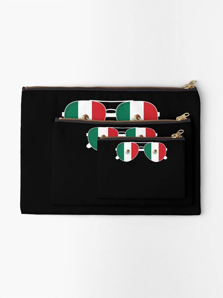 Alternative Ansicht von Mexikanische Flagge Mexiko Sonnenbrille Shirt Mexikanische Flagge Mexiko T-Shirt Täschchen