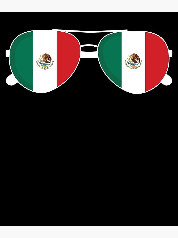 Mexikanische Flagge Mexiko Sonnenbrille Shirt Mexikanische Flagge Mexiko T-Shirt von davdmark