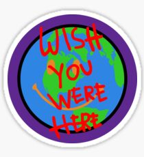 Travis Scott Astroworld Globe Smiley Wish You Were Here Sticker