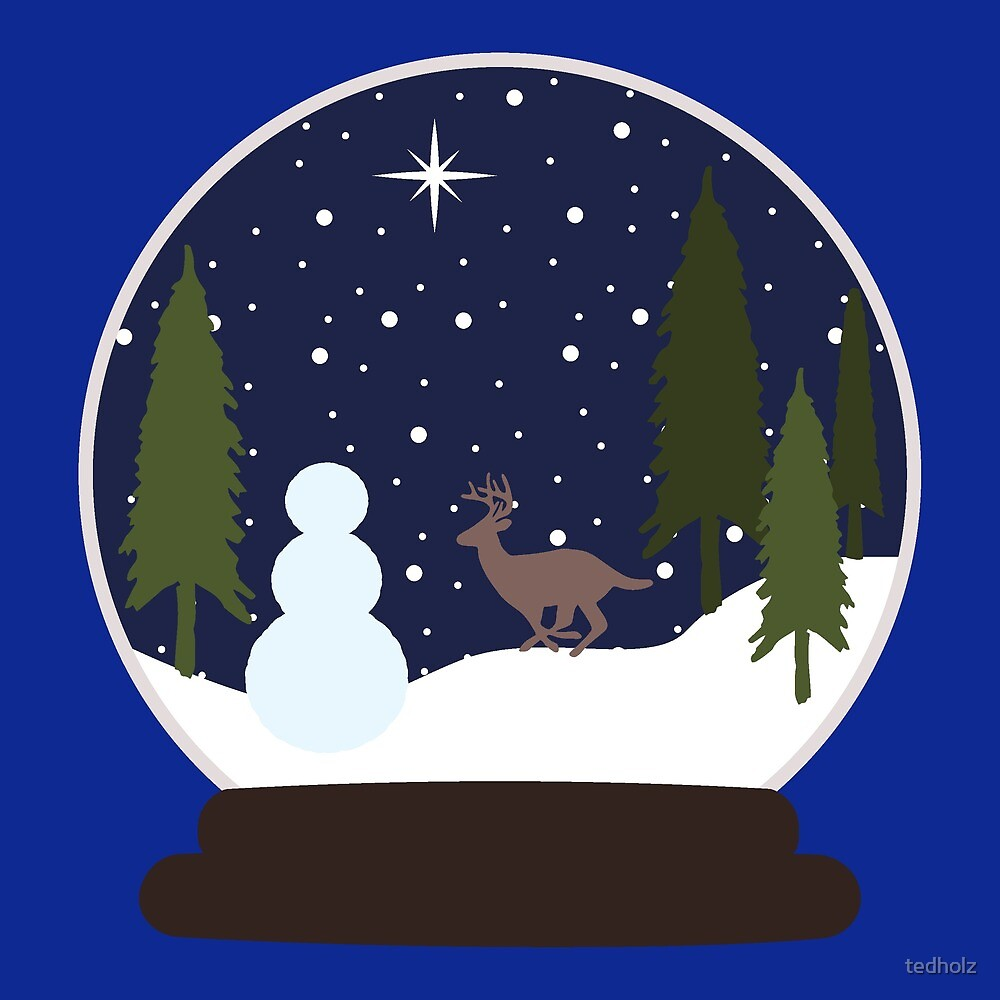 snowman snow globe christmas winter scene let it snow by