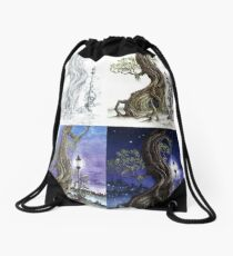 Sylvia and Her Lamp At Dusk Progression Drawstring Bag