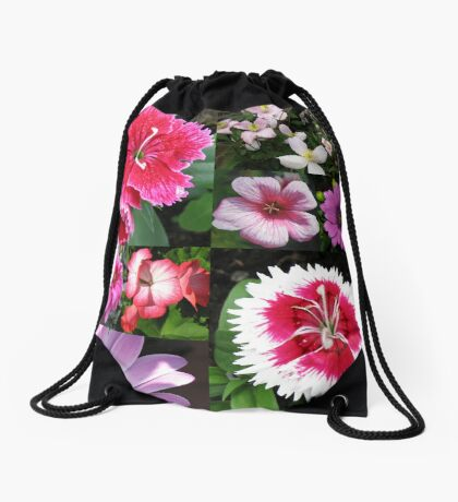 Passionate about Pink - Floral Collage Turnbeutel
